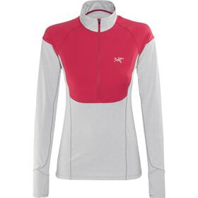 Arc'teryx Taema Maglietta corsa maniche lunghe Donna grigio/rosso